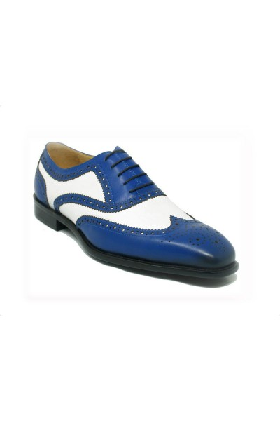 Men's Lace-Up Shoes by Carrucci - Duo Tone Blue/White a
