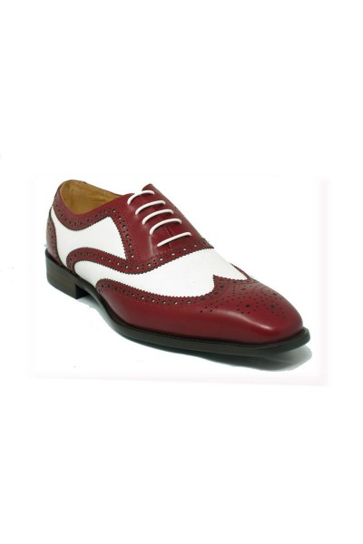Men's Lace-Up Shoes by Carrucci - Duo Tone Red/White a