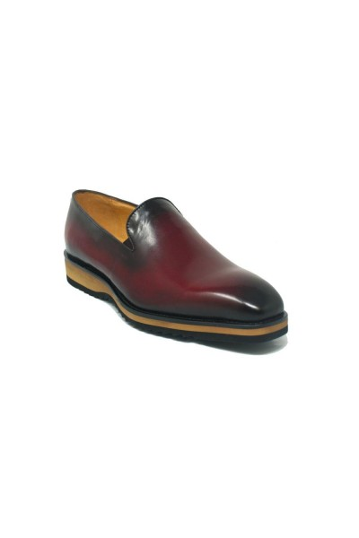 Men's Slip-On Shoes by Carrucci - Burgundy / Tan