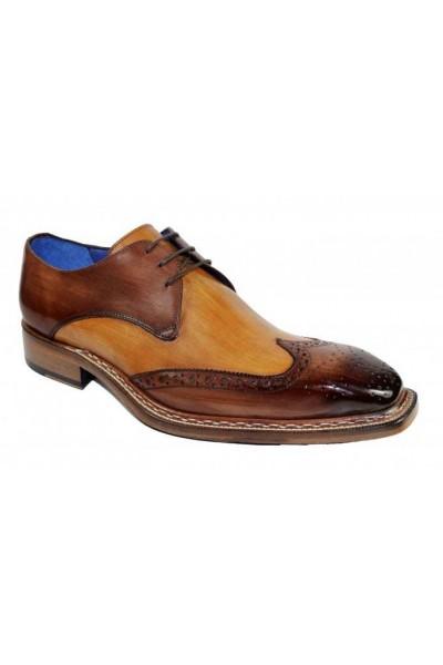 Men's Shoes by Emilio Franco - Leo Brown Cognac