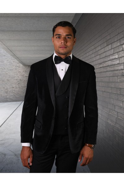 Men's Tux - Tailored Fit - Velvet Black