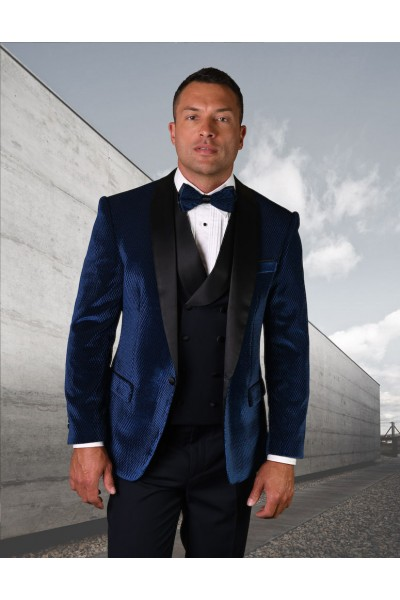 Men's Tux - Tailored Fit - Velvet Navy