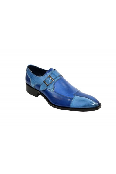 Duca by Matiste Men's Shoes - Made in Italy - Lucca - Blue Combination