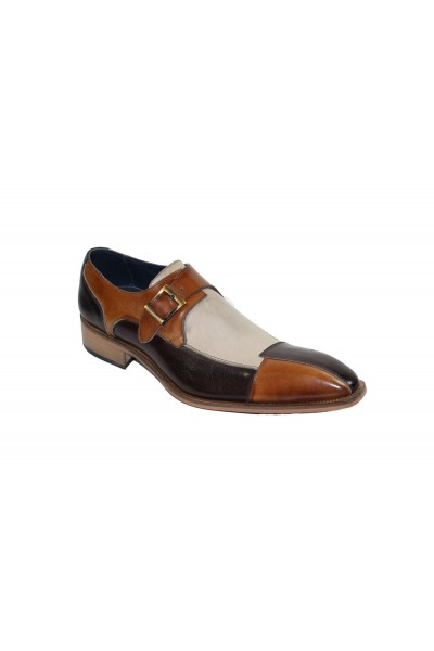 Duca by Matiste Men's Shoes - Made in Italy - Lucca - Brown Combination
