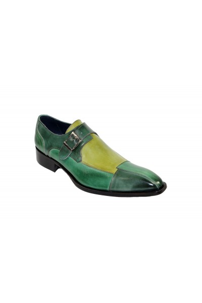 Duca by Matiste Men's Shoes - Made in Italy - Lucca - Green Combination