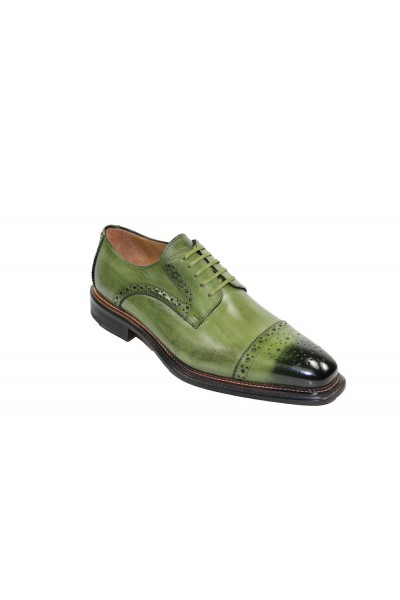 Men's Shoes by Emilio Franco - Olive