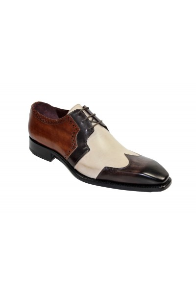 Men's Shoes by Emilio Franco - Chocolate Combination