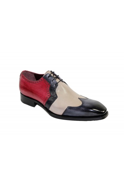 Men's Shoes by Emilio Franco - Grey Combo