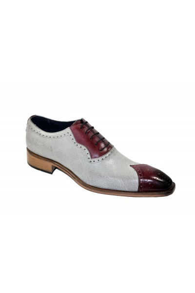 Duca by Matiste Men's Shoes - Made in Italy - Marino - Wine/Bone
