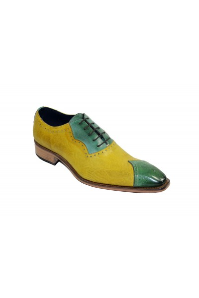 Duca by Matiste Men's Shoes - Made in Italy - Marino - Green/Yellow