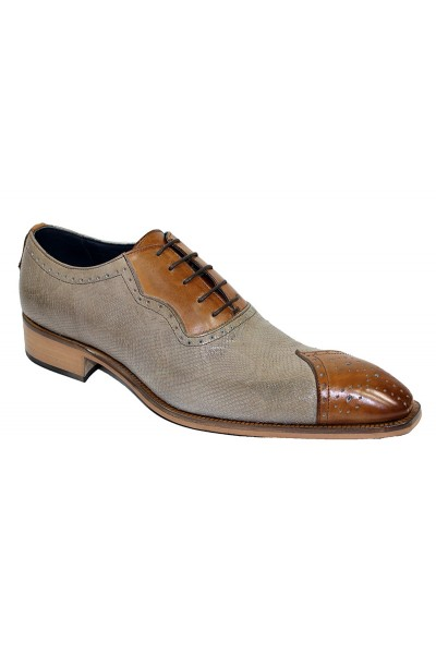 Duca by Matiste Men's Shoes - Made in Italy - Marino - Camel/Neutro A