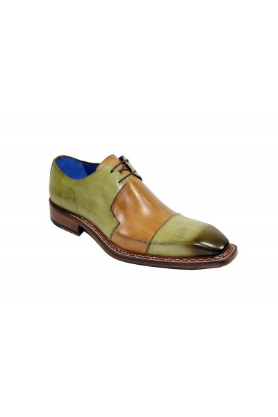 Men's Shoes by Emilio Franco - Olive/Cognac