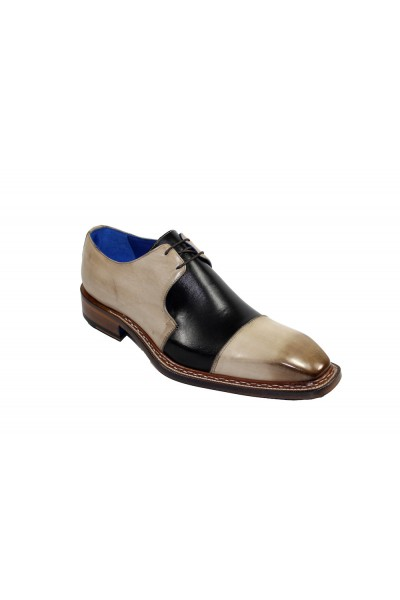Men's Shoes by Emilio Franco - Taupe/Black