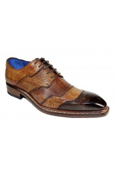 Men's Shoes by Emilio Franco - Martino Brown Combo