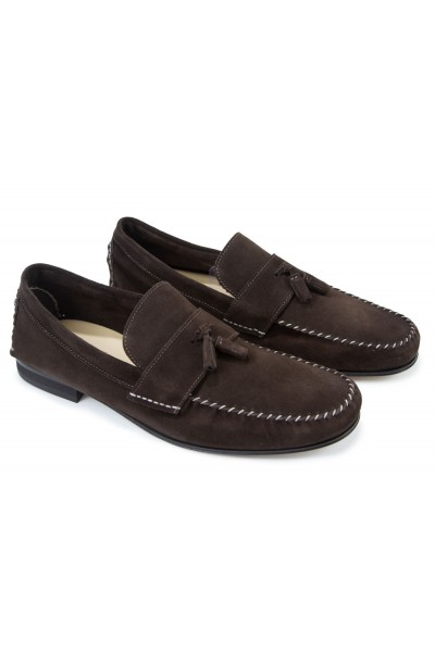 Giovanni Marquez Men's Shoes - Moccasin Loafer with Tassel - Brown