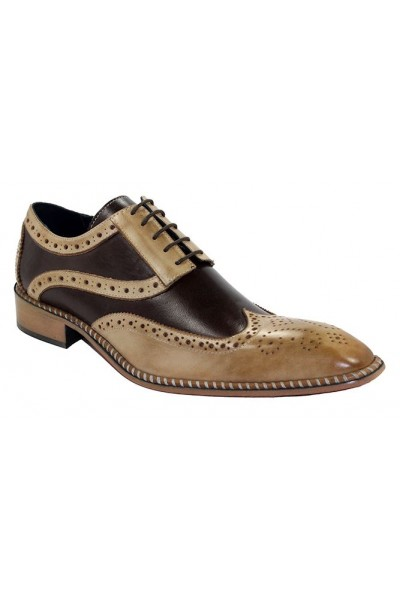 Duca by Matiste Men's Shoes - Made in Italy - Napoli Taupe Dark Brown