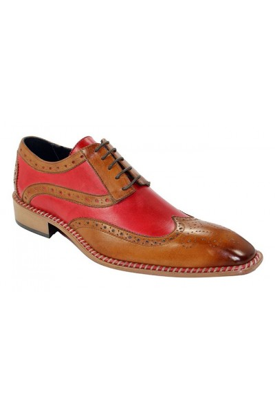 Duca by Matiste Men's Shoes - Made in Italy - Napoli Cognac Red