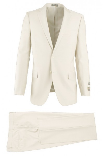 Novello Modern Fit Luxe Suit by Tiglio - Off White