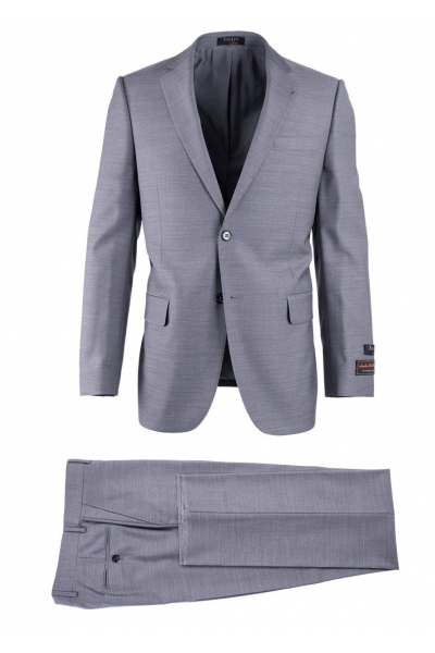 Novello Modern Fit Luxe Suit by Tiglio - Light Gray