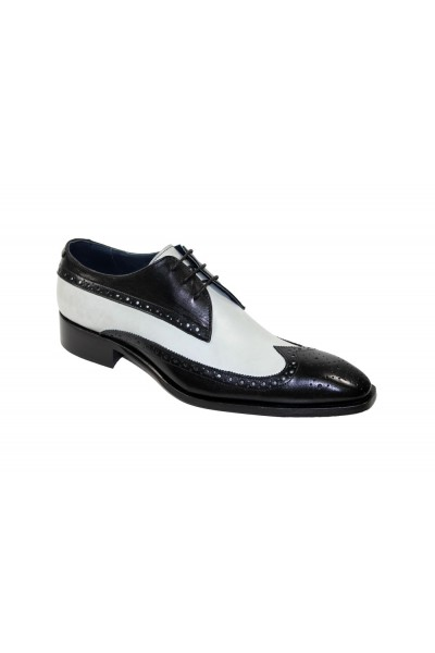 Duca by Matiste Men's Shoes - Made in Italy - Ostia - Black/White