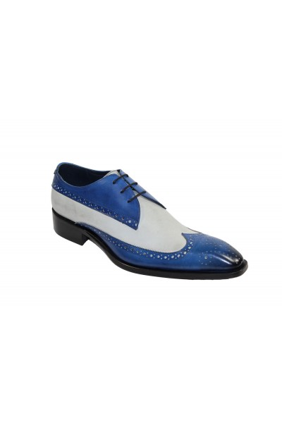 Duca by Matiste Men's Shoes - Made in Italy - Ostia - Blue/Bone