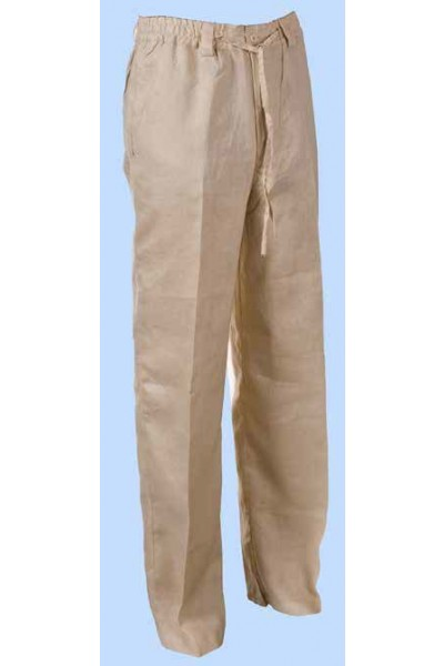 Men's 100% Linen Drawstring Pants by Merc/InSerch - 4 Colors a