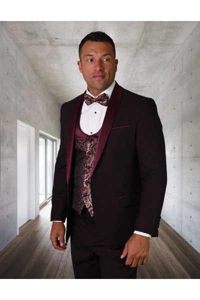 Men's Tux - Tailored Fit - Palmero Burgundy