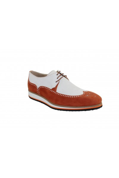 Men's Shoes by Emilio Franco - Orange/Off White