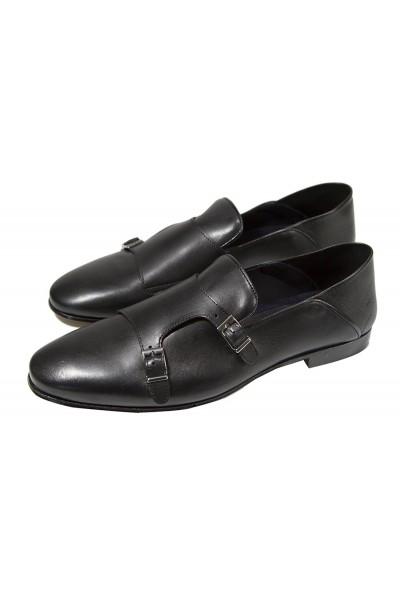 Giovanni Marquez Men's Shoes - Double Buckle / Black a
