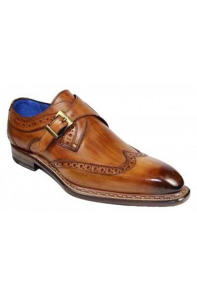 Men's Shoes by Emilio Franco - Riccardo Cognac