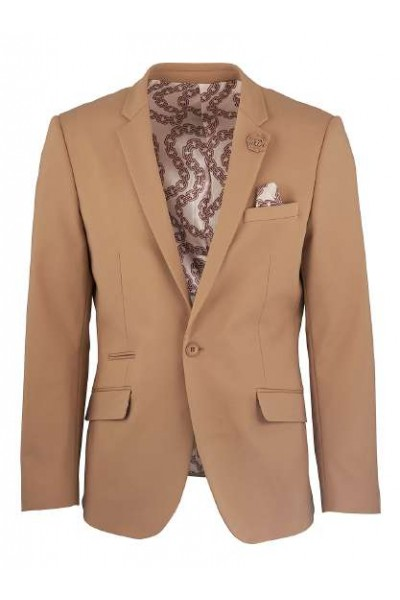 Men's Sateen Blazer by Suslo Couture - Beige