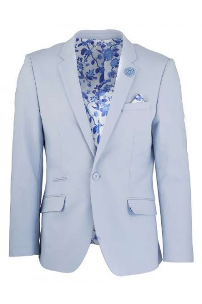 Men's Sateen Blazer by Suslo Couture - Lt Blue