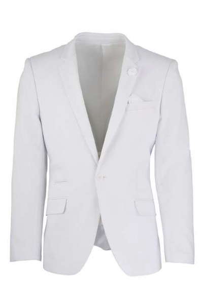 Men's Sateen Blazer by Suslo Couture - White