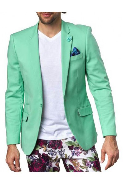Men's Sateen Blazer by Suslo Couture - Green