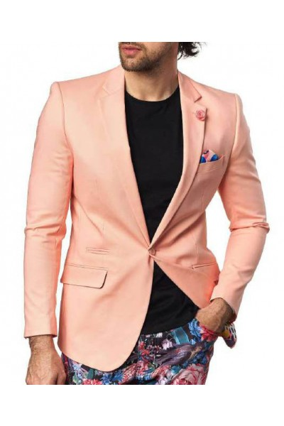 Men's Sateen Blazer by Suslo Couture - Peach