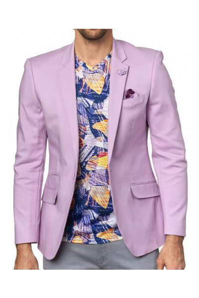 Men's Sateen Blazer by Suslo Couture - Purple a
