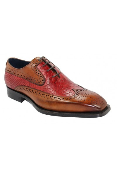 Duca by Matiste Men's Shoes - Made in Italy - Salerno Cognac Red