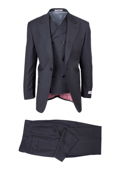 San Giovesse Full Cut Men's Suit  by Tiglio Rosso - San Giovesse Full Cut Men's Suit  by Tiglio Rosso - Black Pinstripe