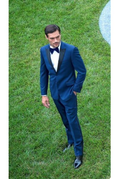 Tufo Modern Fit Tuxedo by Tiglio Luxe - Tufo Blue  LIFESTYLE