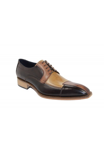 Duca by Matiste Men's Shoes - Made in Italy - Torino - Brown Combo
