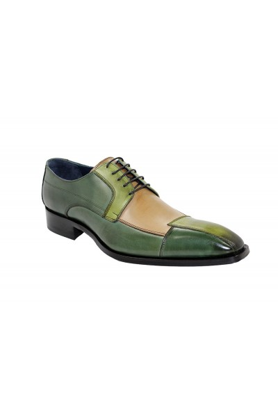 Duca by Matiste Men's Shoes - Made in Italy - Torino - Green Combo