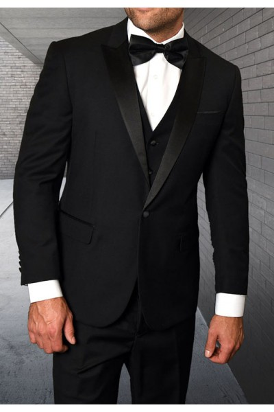 Men's Tux - Tailored Fit - Tux-PK Black