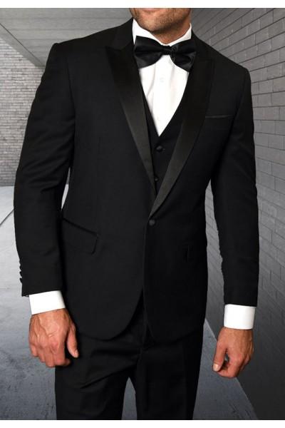Men's Tux - Tailored Fit - Tux-PK Black