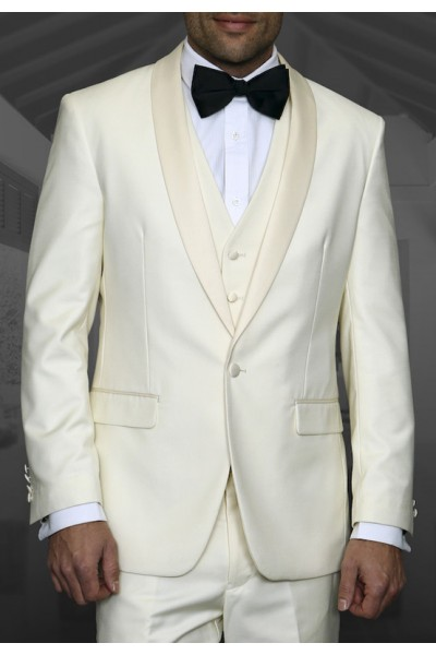 Men's Tux - Tailored Fit - Tux-PK Off White a