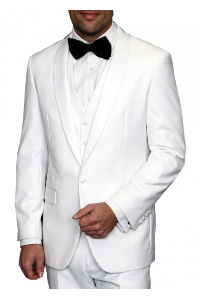 Men's Shawl Collar Tux by STATEMENT  White A