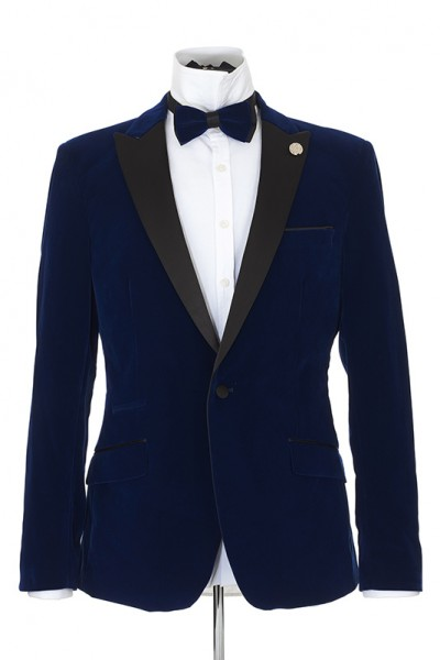 Men's Blazer by Suslo Couture - Velvet / Blue