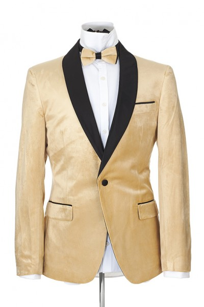 Men's Blazer by Suslo Couture - Velvet / Champagne