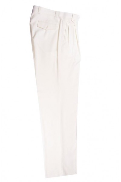 Men's Wide Leg Pleated Pants by Tiglio - 2576