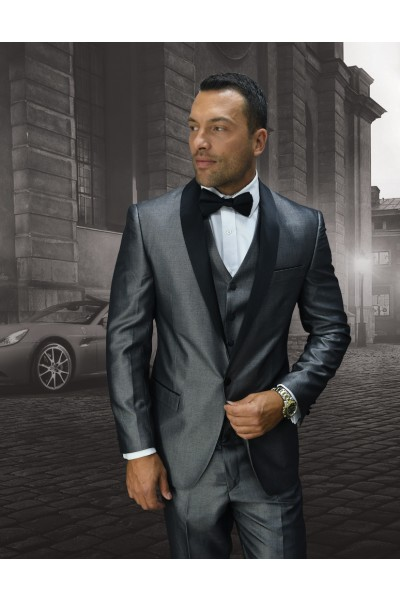 Men's Iridescent Tux by STATEMENT - Wynn Grey b