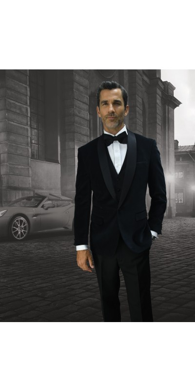 Men's Suit - Modern Fit - Black Velvet